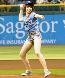 Carly Rae Jepsen's First Pitch at Rays Game Goes Awry 45228