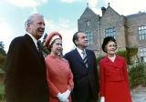 Richard and Pat Nixon with Queen Elizabeth II. 45372