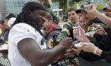 Green Bay Packers' Eddie Lacy satisfied with his conditioning 45571