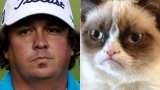 Grumpy golfer Jason Dufner fulfils lifetime dream, embraced by hot wife, refuses to smile 45937