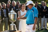 Jason Dufner shared a celebratory PGA Championship love tap with his wife 45941