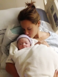 Jenna Wolfe Kisses Newborn Baby Girl in First Photo From Stephanie Gosk 46206