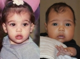 Kim Kardashian and North West Baby Pics Side by Side—See the Resemblance! 46232