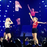 "On Friday, August 23, Taylor Swift introduced special guest, Ellie Goulding, to sing her hit single ""Anything Could Happen."" 46348"
