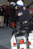 Call the fashion police! Cher arrives at the Today show in wacky trousers as she hitches a ride on highway patrol bike 46655