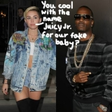 Miley Cyrus Juicy Jokes About Her Fake Pregnancy On Twitter! 46929