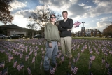 Rider University students honor Veterans Day with 6,700 American flags on campus 47960