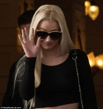 Dressed for success: Iggy Azalea and Rita Ora head to MTV European Music Awards in revealing black outfits 47980