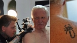 Broadcaster David Dimbleby gets first tattoo aged 75 48034