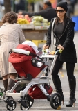 Under fire Alec Baldwin is grim-faced in New York while wife Hilaria dons high heeled boots for stroll with baby daughter 48111