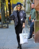 She's the bomb! Rita Ora keeps a low profile in beanie hat and bomber jacket as she steps out in New York 48161