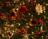 decorative dolls, bells for Christmas trees 48607