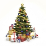 gift box with pine decoration for Christmas season 48612