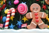 lollipops, dolls shaped tree decoration 48614