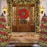 Christmas decorating ideas at your door 48669