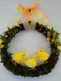 homemade wreath with golden birds 48751