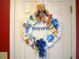 homemade wreath from spoons, bottles of baby 48757