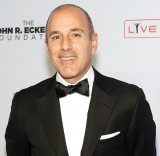 Matt Lauer Covered Tab for Today Show Holiday Party 48890
