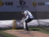 Piers Morgan hit four times in six balls in his Ashes showdown with former Australia bowler Brett Lee 49223